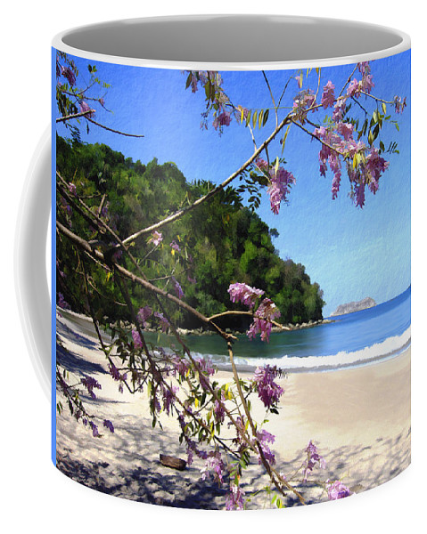 Beach Coffee Mug featuring the photograph Playa Espadillia Sur Manuel Antonio National Park Costa Rica by Kurt Van Wagner