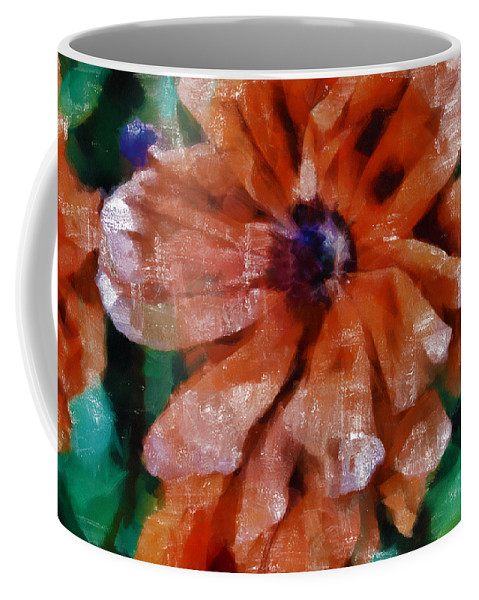 Poppy Coffee Mug featuring the mixed media Playful Poppies 1 by Angelina Vick