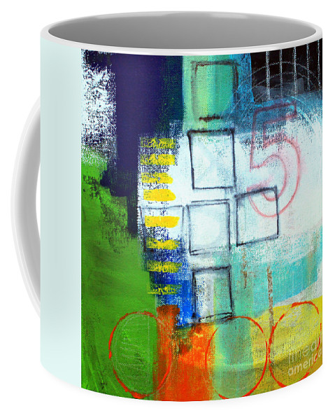 Abstract Coffee Mug featuring the painting Playground by Linda Woods