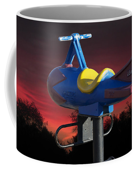 Usaf Coffee Mug featuring the photograph Playground Plane by Thomas Woolworth