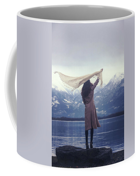 Woman Coffee Mug featuring the photograph Playing With Wind by Joana Kruse