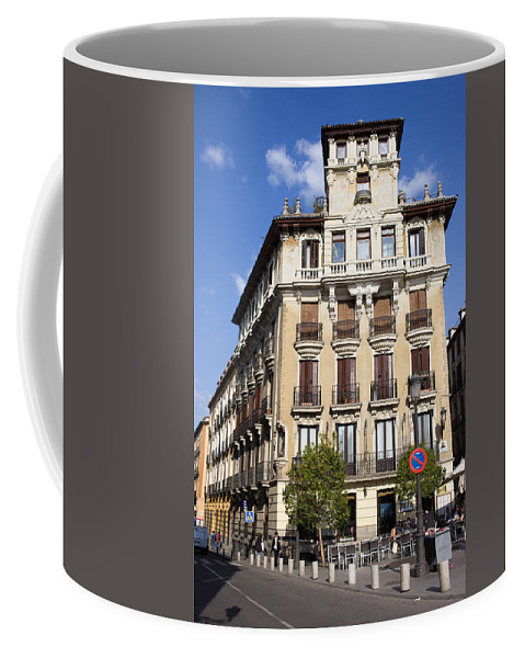 Madrid Coffee Mug featuring the photograph Plaza De Ramales Tenement House by Artur Bogacki