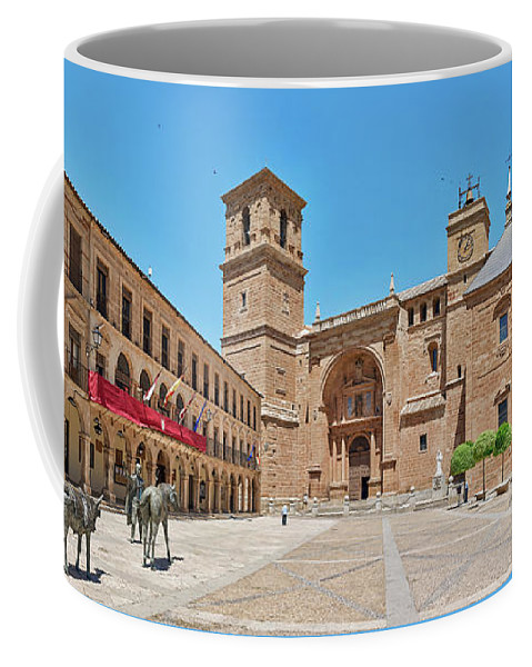 Photography Coffee Mug featuring the photograph Plaza Mayor And San Andres Church by Panoramic Images