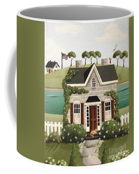 Art Coffee Mug featuring the painting Pleasant Point by Catherine Holman