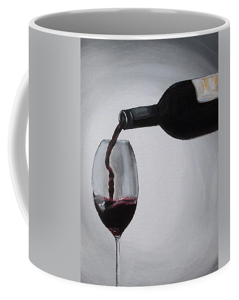 Wine Coffee Mug featuring the painting Pleasure In A Glass by Melissa Torres