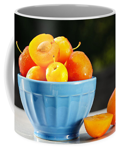 Plums Coffee Mug featuring the photograph Plums In Bowl by Elena Elisseeva