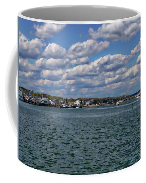 Bay Coffee Mug featuring the photograph Plymouth Harbor by Anthony Dezenzio