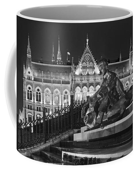 Joan Carroll Coffee Mug featuring the photograph Poet And Parliament by Joan Carroll