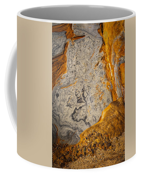 Copyrighted Coffee Mug featuring the photograph Point Lobos Abstract 12 by Mike Penney