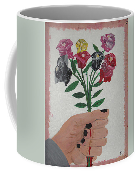 Painting Coffee Mug featuring the painting Point Of Beauty by Dean Stephens