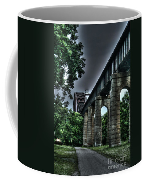 Bridge Coffee Mug featuring the photograph Point Pleasant West Virginia by Tommy Anderson