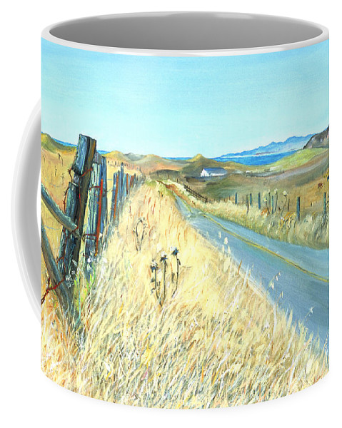 Landscape Painting Coffee Mug featuring the painting Point Reyes Country Road by Asha Carolyn Young