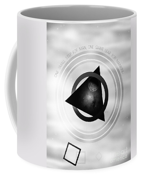 Space Coffee Mug featuring the digital art Point To The Moon by Phil Perkins