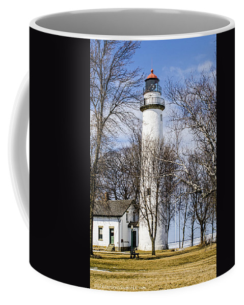 Pointe Aux Barques Lighthouse Coffee Mug featuring the photograph Pointe Aux Barques Lighthouse by LeeAnn McLaneGoetz McLaneGoetzStudioLLCcom