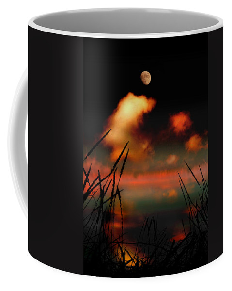Landscape Coffee Mug featuring the photograph Pointing At The Moon by Mal Bray
