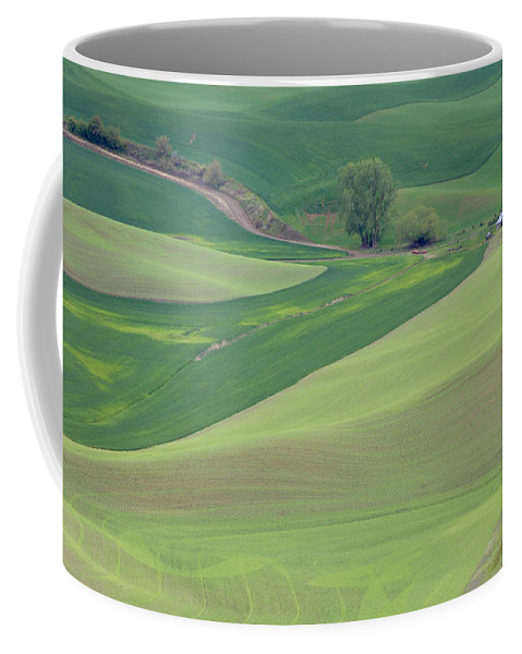 Agriculture Coffee Mug featuring the photograph Points Leading Home by Mary Lee Dereske