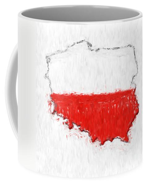 Poland Coffee Mug featuring the photograph Poland Painted Flag Map by Antony McAulay