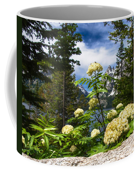 Pollen In The Peaks Coffee Mug featuring the photograph Pollen In The Peaks by JP McKim