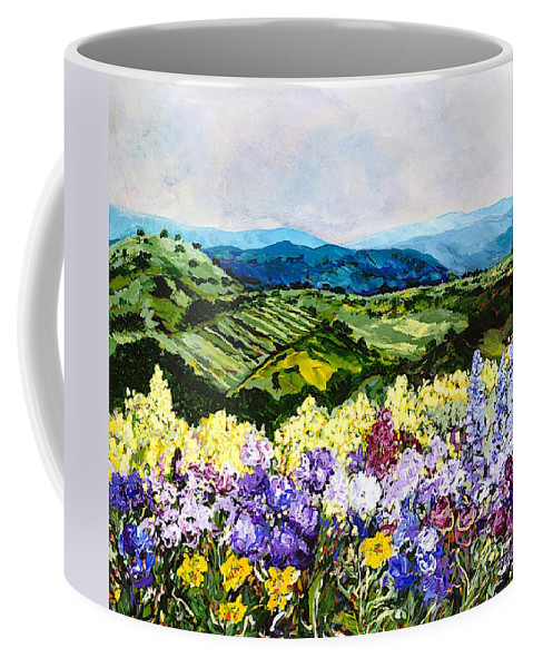 Landscape Coffee Mug featuring the painting Pollinators Ravine by Allan P Friedlander