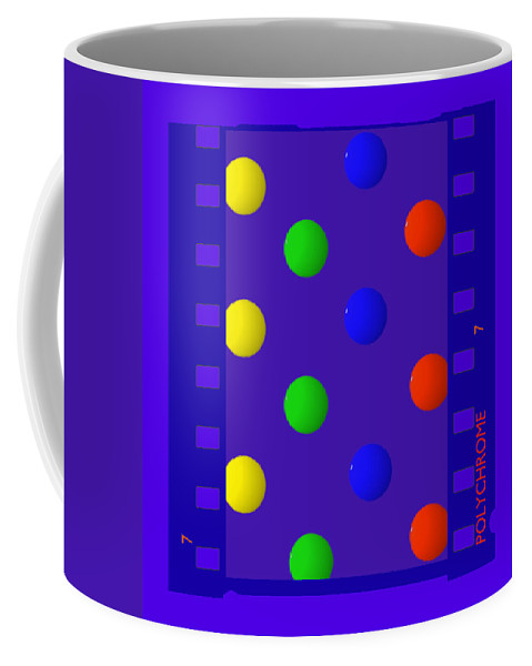 Polychrome Coffee Mug featuring the painting Polychrome Blue by Charles Stuart