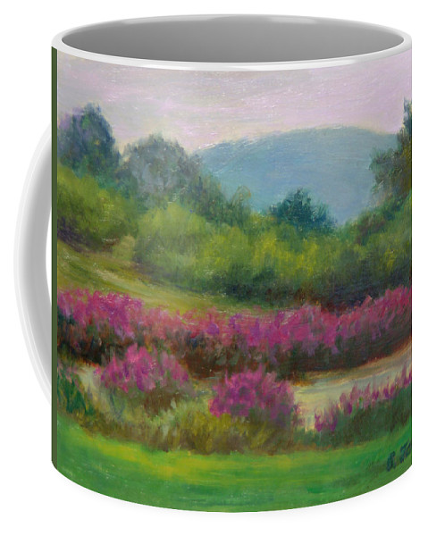 Landscape Coffee Mug featuring the painting Pond At Willow Tree Farm by Phyllis Tarlow