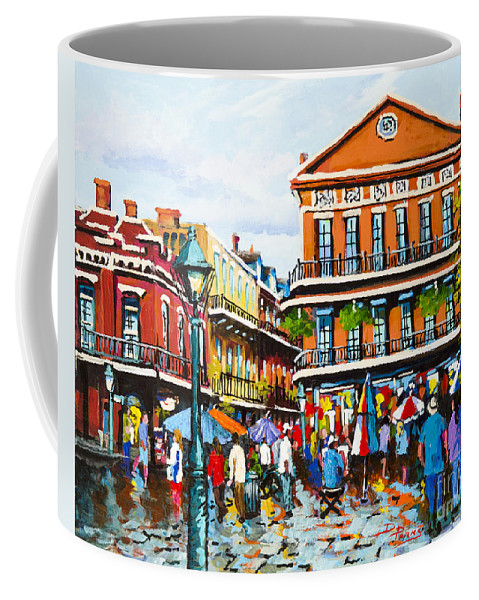 New Orleans Coffee Mug featuring the painting Pontabla by Dianne Parks