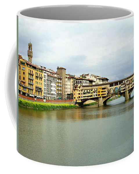 Ponte Vecchio Coffee Mug featuring the photograph Ponte Vecchio 1 by Ellen Henneke