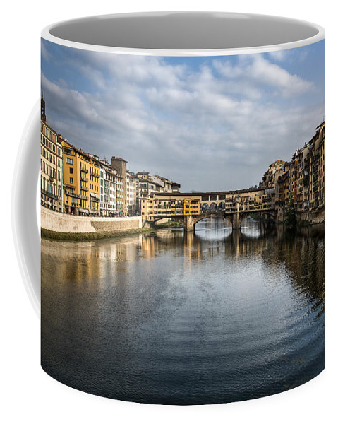 Italy Coffee Mug featuring the photograph Ponte Vecchio by Dave Bowman