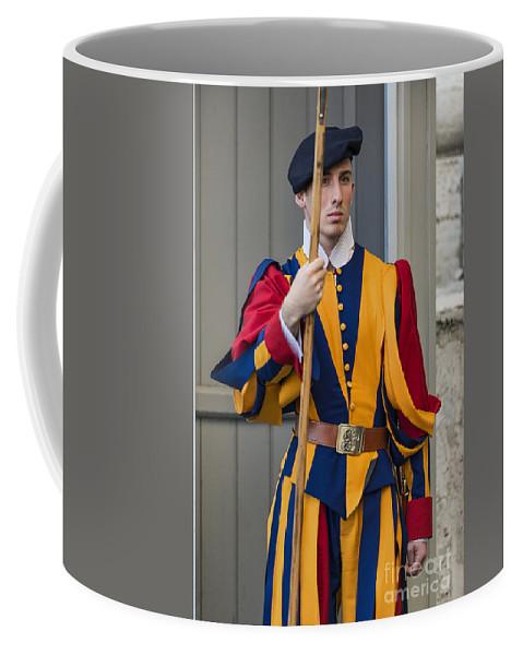 Italy Coffee Mug featuring the photograph Pontifical Swiss Guard by John Greim