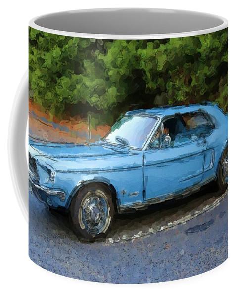 Pony Blue Coffee Mug featuring the photograph Pony Blue by Karol Livote