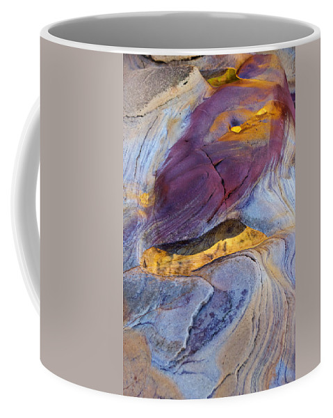 Abstract Coffee Mug featuring the photograph Pools Of Gold II by David Pringle