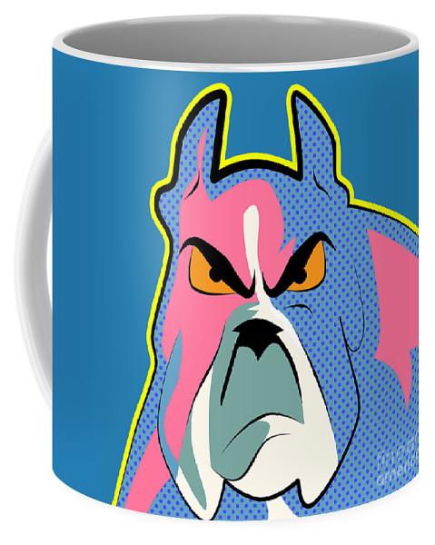 Pop Art Coffee Mug featuring the digital art Pop Art Dog by Mark Ashkenazi