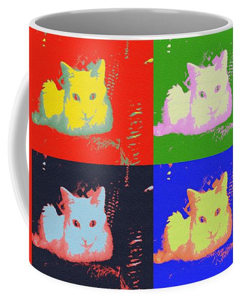 Pop Art Coffee Mug featuring the photograph Pop Kitty by Julie Niemela