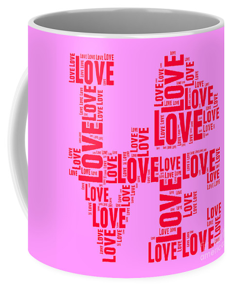 Love Coffee Mug featuring the digital art Pop Love 4 by Delphimages Photo Creations