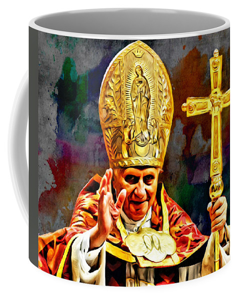 Pope Benedict Coffee Mug featuring the photograph Pope Benedict by Carlos Diaz