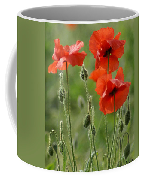 Poppies Coffee Mug featuring the photograph Poppies 2 by Carol Lynch