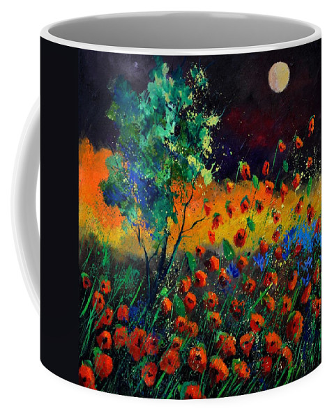 Landscape Coffee Mug featuring the painting Poppies 774111 by Pol Ledent