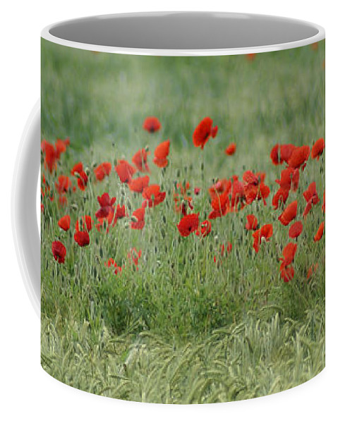 Poppies Coffee Mug featuring the photograph Poppies by Carol Lynch
