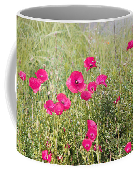 Pink Poppy Coffee Mug featuring the photograph Poppy Blush by P Donovan