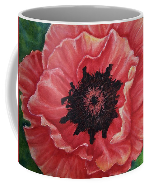 Poppy Coffee Mug featuring the painting Poppy by Conni Reinecke