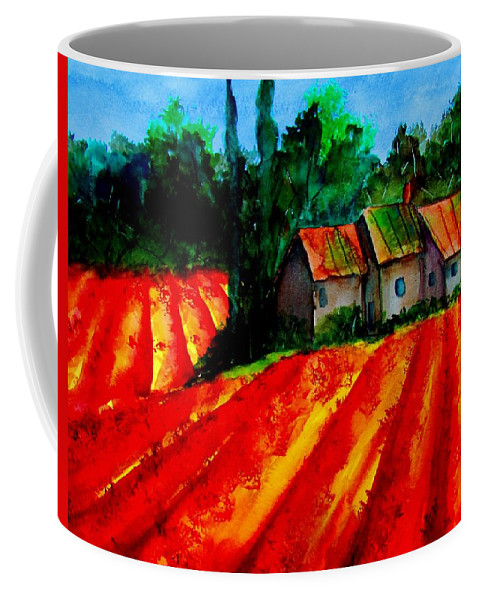 Poppies Coffee Mug featuring the painting Poppy Field Sold by Lil Taylor