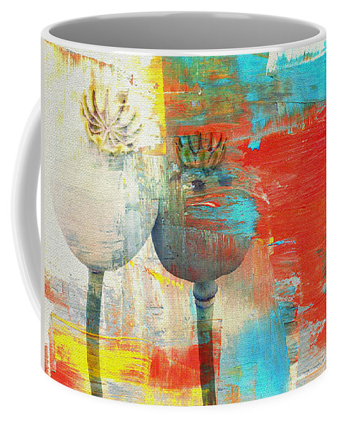 Poppy Coffee Mug featuring the mixed media Poppy by Heike Hultsch