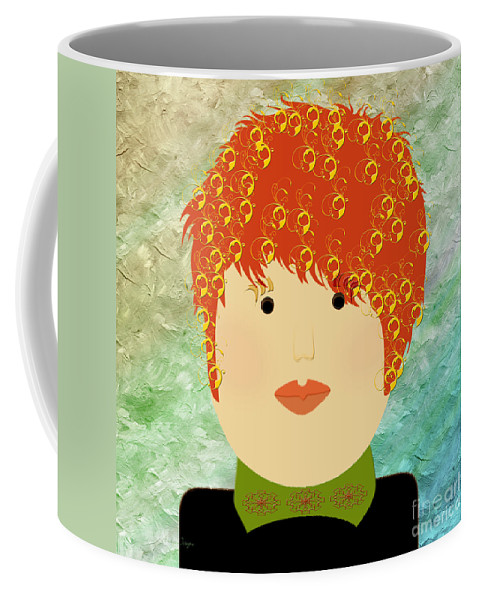 Andee Design Coffee Mug featuring the digital art Porcelain Doll 13  by Andee Design