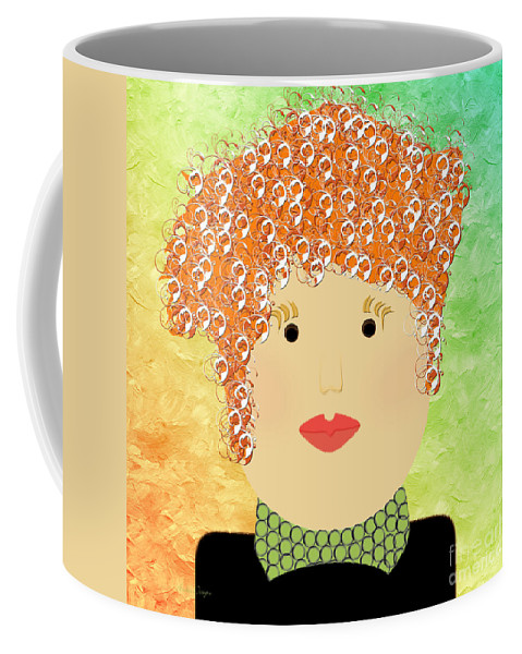 Andee Design Coffee Mug featuring the digital art Porcelain Doll 22 by Andee Design