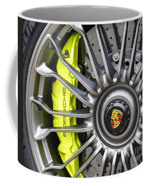 Porsche Coffee Mug featuring the photograph Porsche 918 Wheel by Dennis Hedberg