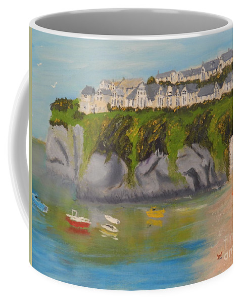 Impressionism Coffee Mug featuring the painting Port Asaac Cornwell by Pamela Meredith
