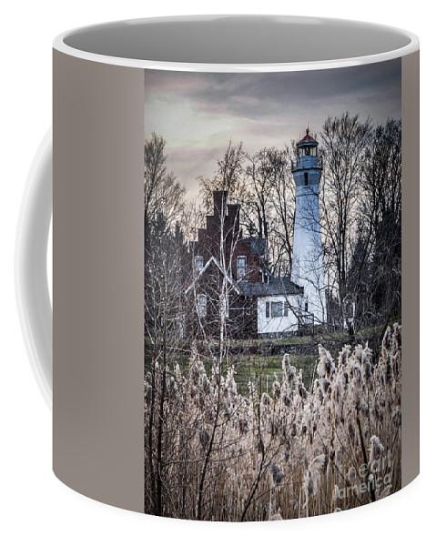 Lighthouse Coffee Mug featuring the photograph Port Sanilac Light by Ronald Grogan