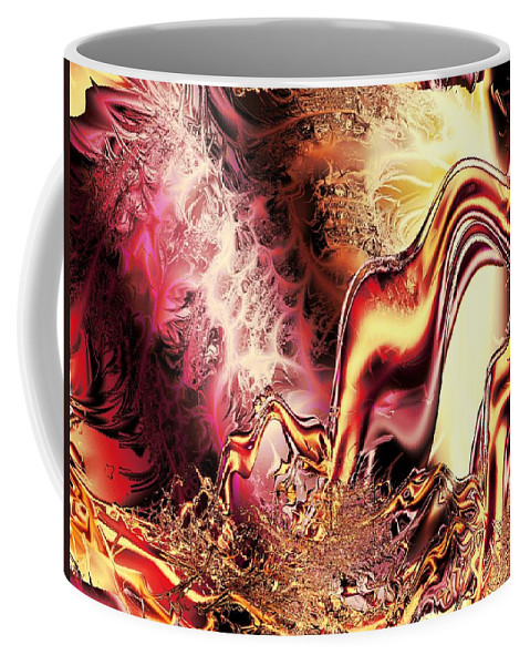 Abstract Coffee Mug featuring the digital art Portal by Anastasiya Malakhova