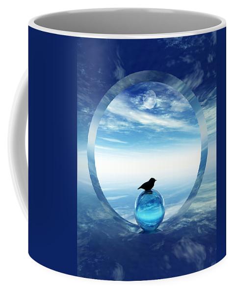 Portal Coffee Mug featuring the digital art Portal To Peace by Richard Rizzo