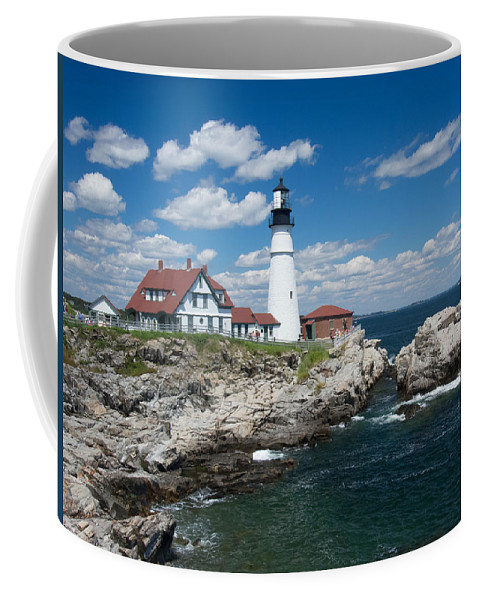 Buildings Coffee Mug featuring the photograph Portland Headlight 0219 by Guy Whiteley